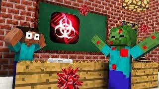 Monster School : PLAGUE INC CHALLENGE APOCALYPSE - Minecraft Animation