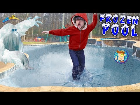 Our Frozen Pool is an ICE MONSTER! FUNnel V Vlog