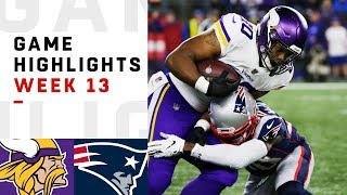 Vikings vs. Patriots Week 13 Highlights | NFL 2018