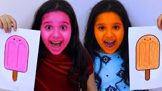 POPSICLE CHANGE SISTER  DIFFERENT COLORS! SHFA  Learn the Colors