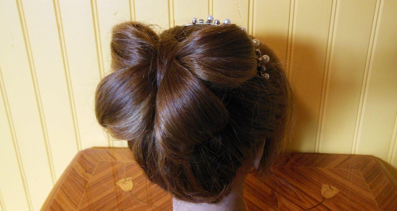 CoiffureChignon Double Noeud Papillon HairstyleBun
