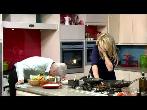 Gino D'Acampo with Holly Willoughby on This Morning - 8th March 2011
