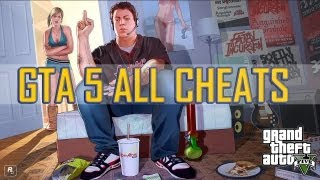 GTA 5 ALL CHEATS! Xbox 360 & PS3 + GTA 5 Gameplay)