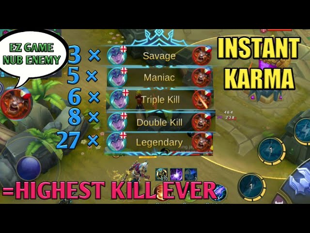 PRO VS TRASHTALKER | HIGHEST KILL IN ML | MOBILE LEGENDS | MOBILE LEGENDS BANG BANG