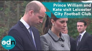 Prince William and Kate visit Leicester City Football Club