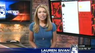 Bang Tidy Lauren Sivan in a Tight Blue Dress (KTLA - Aug 15th 2011) Day 11 of 12