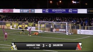 Harrogate Town 3-0 Darlington - Vanarama National League North - 2017/18