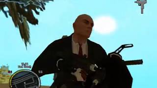 GTA SA: Hitman weapons pack & Hitman skin & Holster mod & GTA IV HUD
