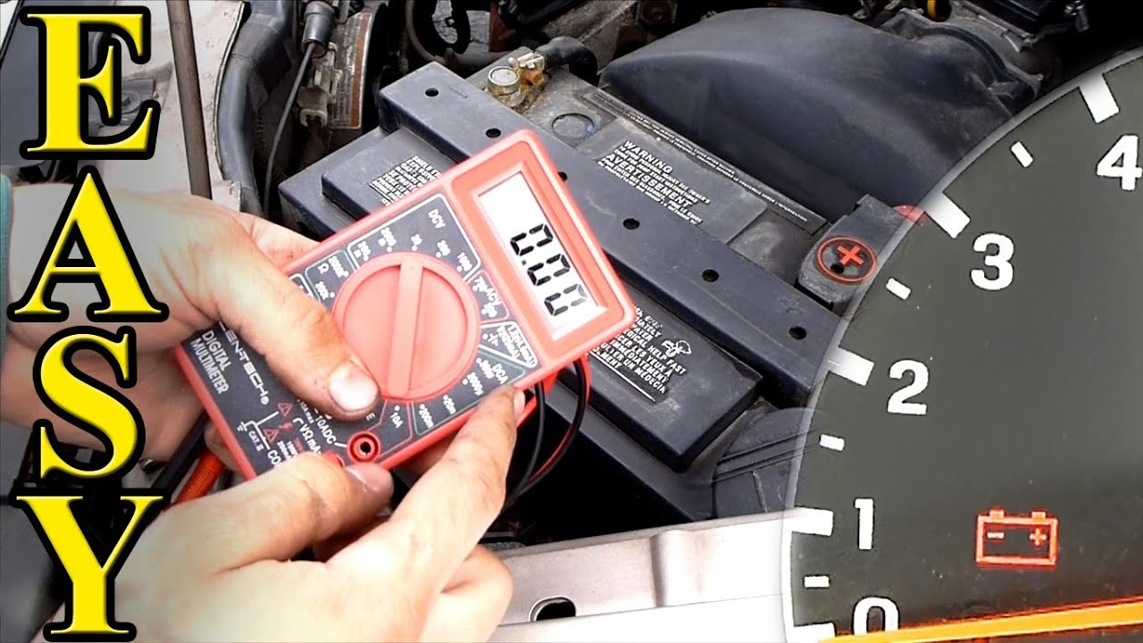 how to test a car battery with a multimeter youtube. Black Bedroom Furniture Sets. Home Design Ideas