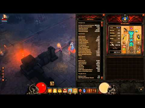 Diablo 3 - 1.0.7 - Inferno Monk Build - Road To Paragon 100 and Mp 10