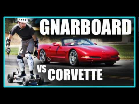 Electric Skateboard VS Corvette