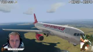 [P3D] Parallel Landing at KSFO with Full ATC! | Aerosoft Airbus A320
