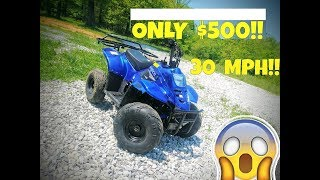 CHEAP Chinese ATV Review!! 110CC 30MPH and Only $500!!
