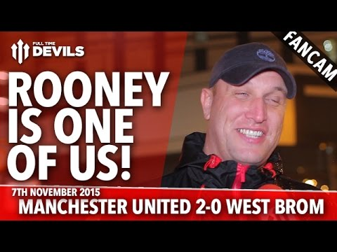 Rooney Is One Of Us! |  Manchester United 2-0  West Bromwich Albion | FANCAM
