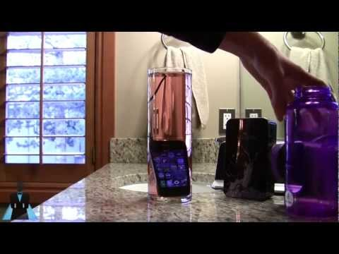 iPhone 4S Waterproof Torture Test with Liquipel Molecular Hydrophobic Coating