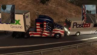 American  Truck Sim  ep 1 FedEx delivery in a kenworth 610