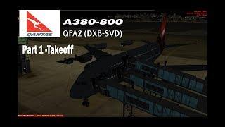 [FSX-SE] Qantas A380-800 QFA2 Full Flight Part 1