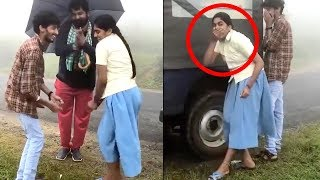 Malayalam Actress Nimisha Sajayan Dancing with JOJU in School Uniform