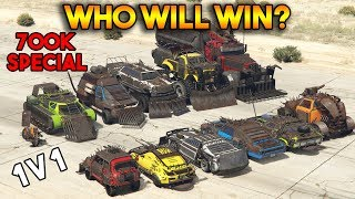 GTA 5 ONLINE : WHO WILL WIN? [700K SPECIAL] (All Arena War DLC vehicles battle)
