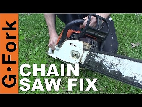 Chainsaw Wont Start? Chainsaw Repair How To : GardenFork.TV
