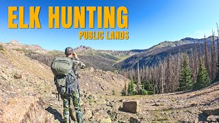 HIGHEST ALTITUDE I'VE EVER HIKED! Rocky Mountain Elk Hunting Public Land pt. 2
