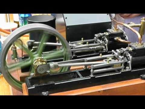 Stuart Twin Victoria live steam engine at ATAF Club Tessin Switzerland
