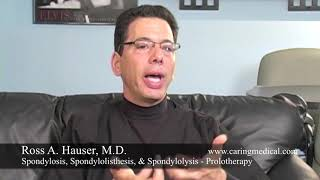 Spondylosis, Spondylolisthesis, & Spondylolysis treatment - Prolotherapy