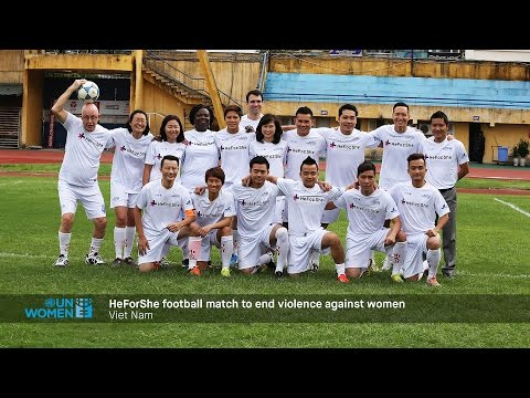 HeForShe football match to end violence against women