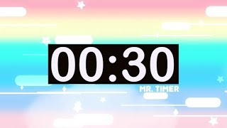 30 Second Timer With Music For Kids Countdown Audio Hd