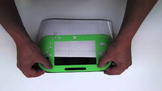 Nintendo Wii U Controller Lime Green Carbon Fiber Install by Stickerboy