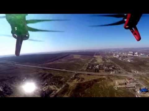 Slaviansk after bombing - drone