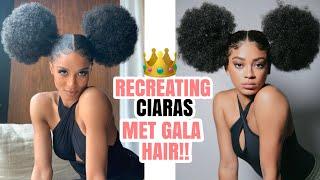 RECREATING CIARAS MET GALA HAIR PUFFS!   jasmeannnn