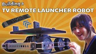 Building a TV Remote Firing Robot!   Kids Invent Stuff
