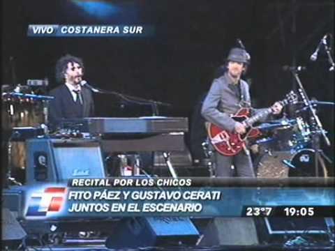 Fito Paez y Gustavo Cerati Crimen Concierto Alas 2008