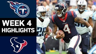Titans vs. Texans | NFL Week 4 Game Highlights