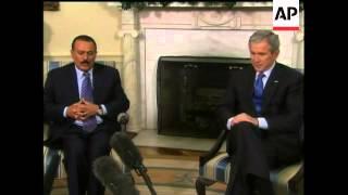 Bush meets Yemeni president at White House