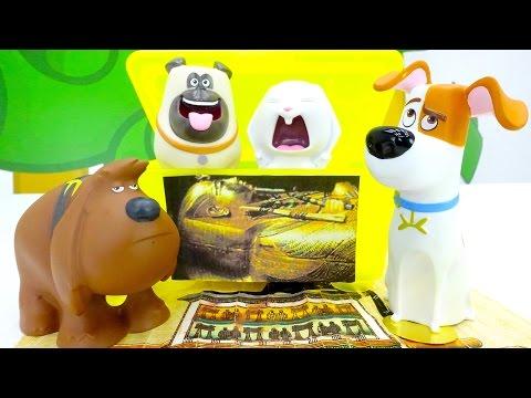 Тайная жизнь домашних животных: друзья в музее Египта. Видео с игрушками для детей.