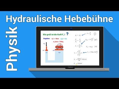 Hydraulische Presse Hebebühne | Physik Übung | Druck Hub Energie berechnen