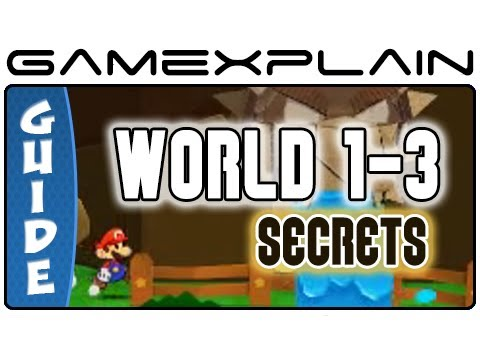 Paper Mario Sticker Star: World 1-3 Guide & Walkthrough (Puzzles & Secrets)