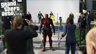GTA 5 Mods Deadpool vs The President