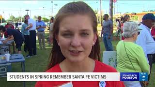 Spring students hold vigil for Santa Fe school shooting victims