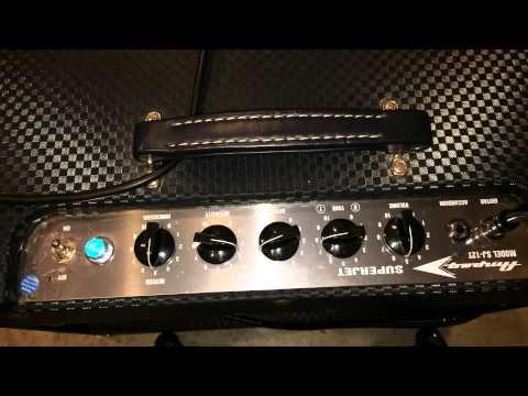 Ampeg SJ-12T, Super Jet, 50W Tube Amplifier Demo