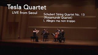 Tesla Quartet | Schubert String Quartet No. 13 Rosamunde I. Allegro ma non troppo