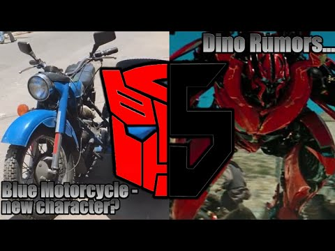 Transformers 5 - Dino Spotted? Blue Motorcycle
