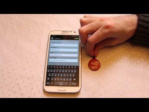 NFC Email trigger with Galaxy Note 2 Near Field Communication - Practical NFC