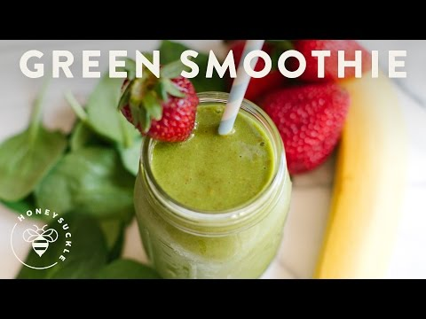 Green Smoothie with Coconut Water Recipe - HoneysuckleCatering