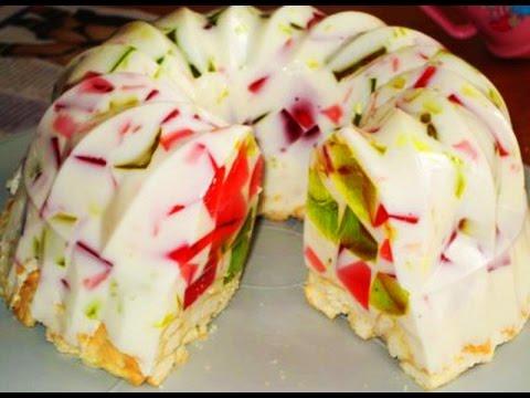 Торт с молочным желе и фруктами рецепт