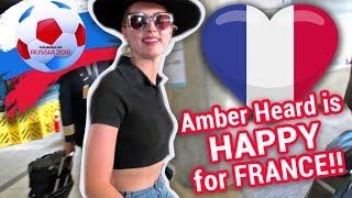 EXCLUSIVE - Watch Amber Heard Gush About France