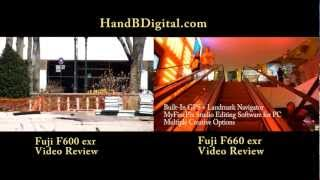 HandBDigital.com (Camera Store NYC) Fuji F600 vs F660 exr VIDEO COMPARISON