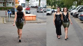 Streetlive in Latexoutfits  with Elaine and Jenny